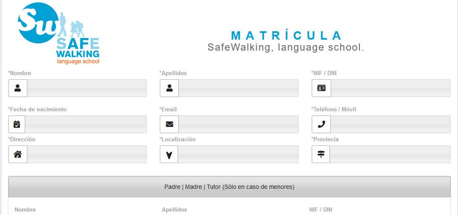 Matrícula cursos de idiomas Safe Walking